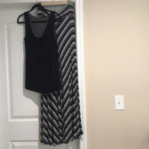 Weekend by Andrea Jovine blk/grey maxi and tank